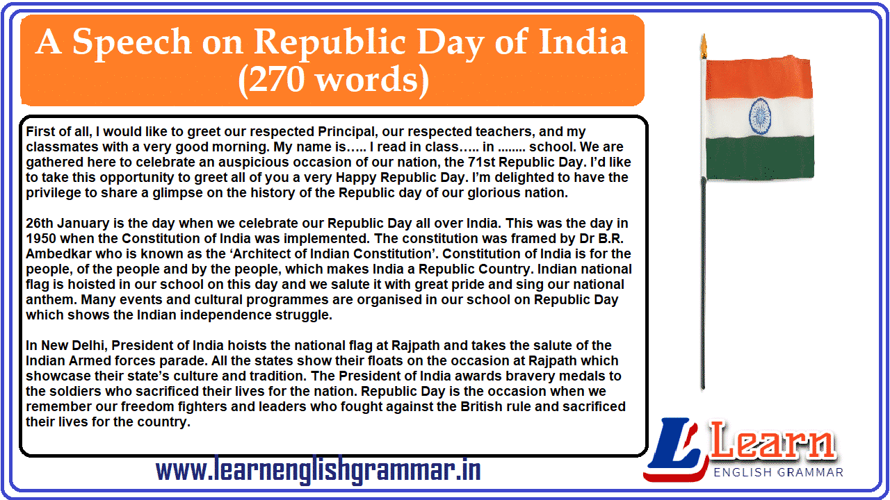 A Speech on Republic Day