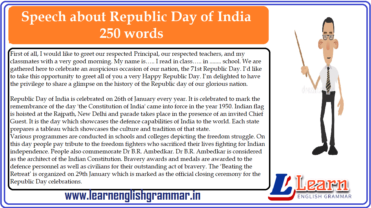 Speech about Republic Day of India