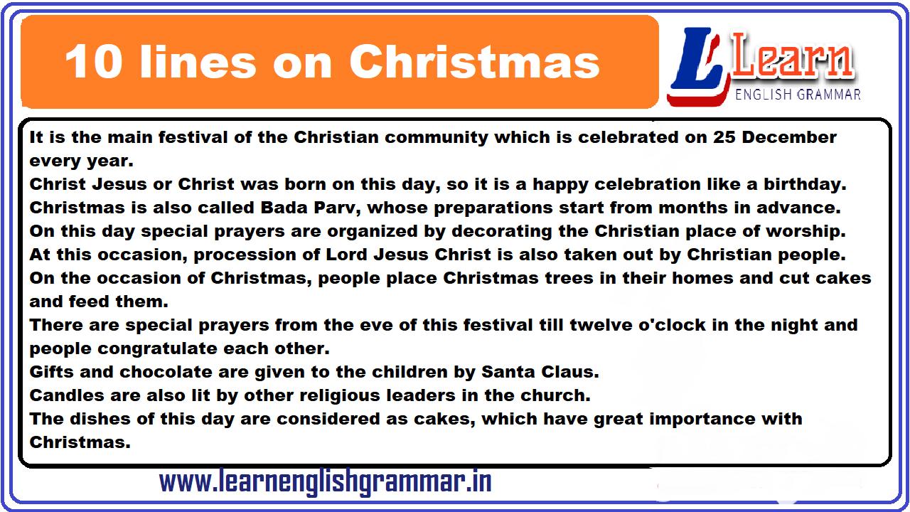 10 lines on Christmas