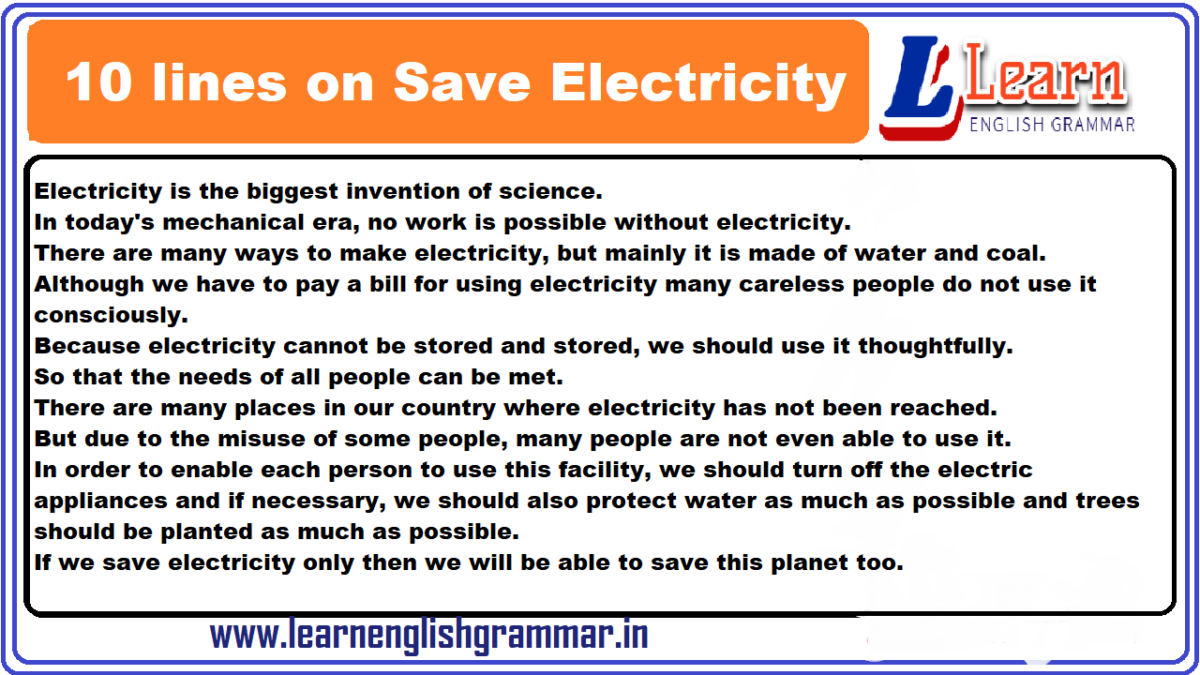 short essay on conservation of electricity