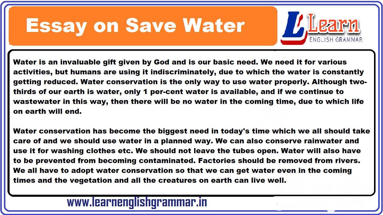 Essay water