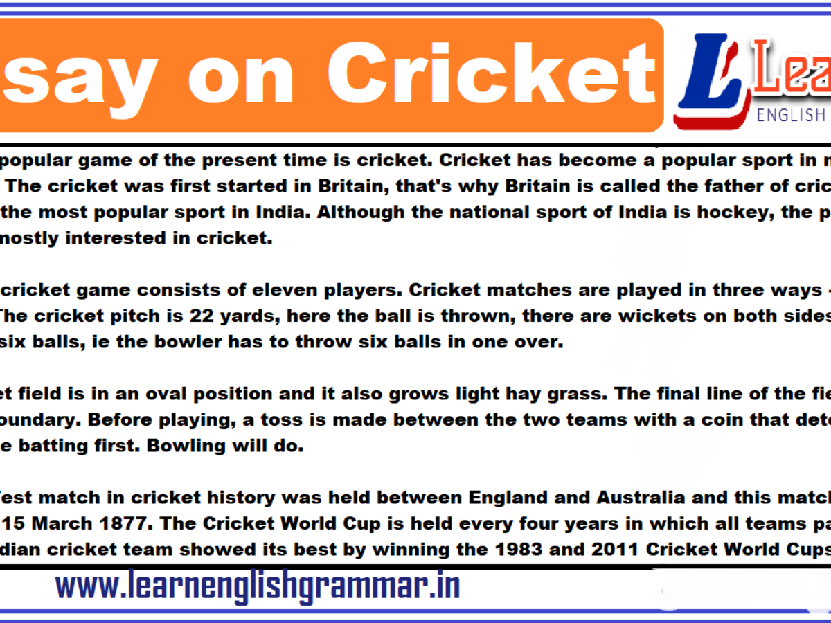 Essay on popularity of cricket in india professional creative writing writing service ca