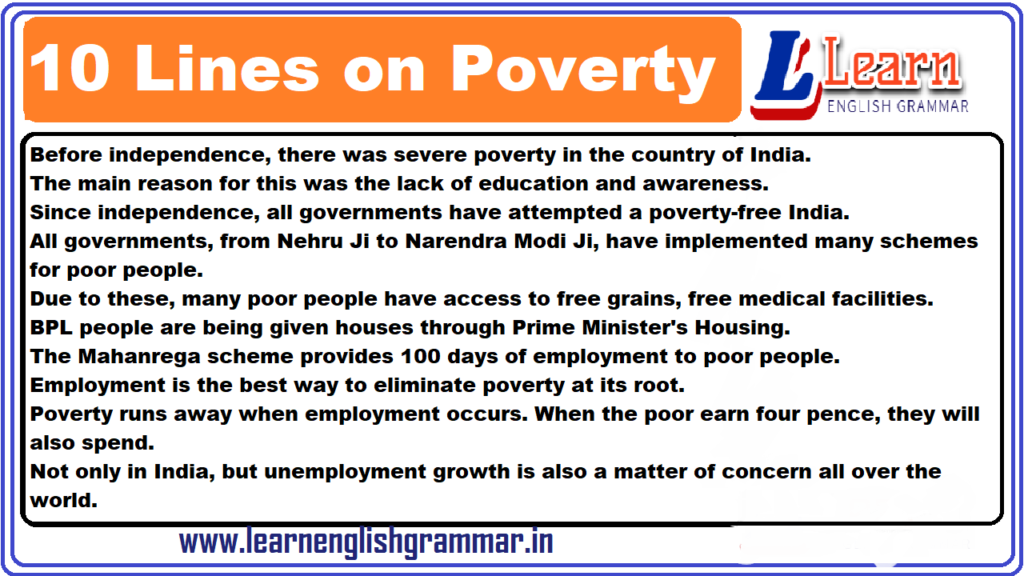 10 Lines on Poverty
