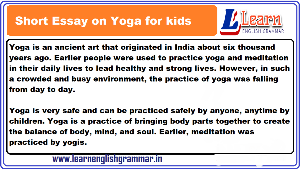 Essay On Yoga In English For Class 1 To 12 Students