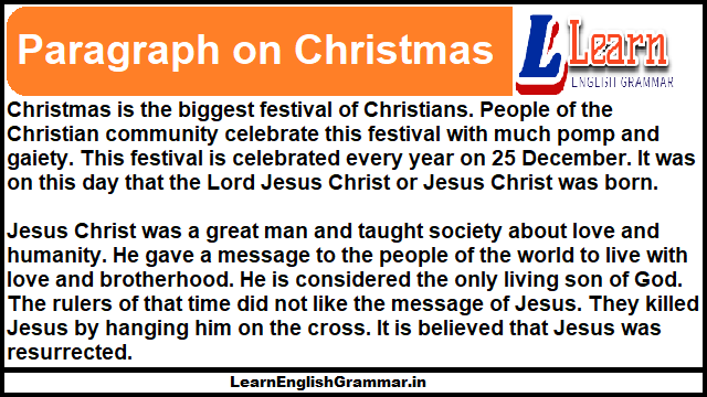 Paragraph on Christmas