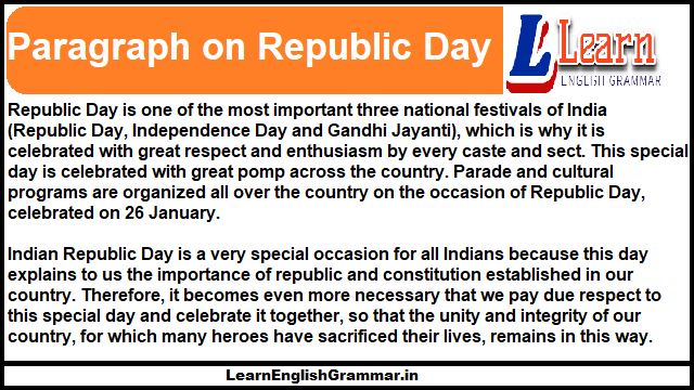 Paragraph on Republic Day