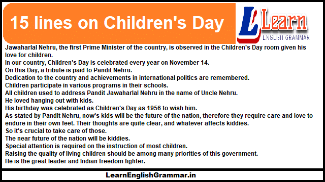 15 lines on Children's Day