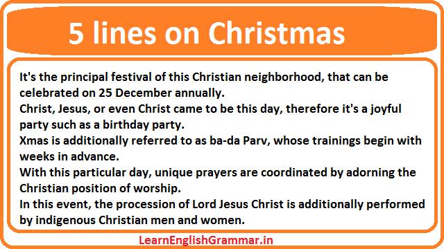 5 lines on Christmas